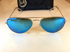 Ray Ban Aviator Gold Frame Blue Flash Mirror Lens 58mm Ray Ban 3025