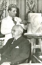 PHOTOGRAPHIE ANCIENNE André CORNU par le SCULPTEUR Aldo BARTELLETTY DAILLON 1953