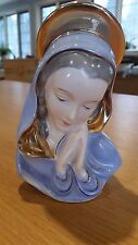 Vintage Porcelain Planter Virgin Mary with Praying Hands Religious Statue