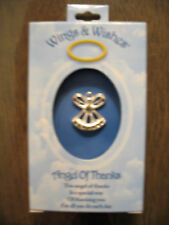 Wings and Wishes Angel of Thanks tack pin New in box NIB