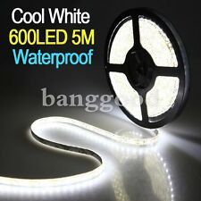5M SMD 3528 600leds Waterproof Cool White Car Flexible Strip Lights Lamp 12V