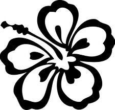 "Aloha Flower  Vinyl Decal ""Sticker"" For Car or Truck Windows, Laptops, etc"