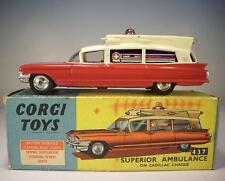 Corgi Toys 437 Superior Ambulance on Cadillac Chassis OVP #126