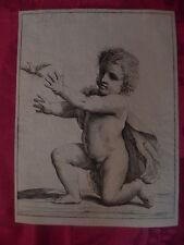 Francesco Curti Guercino bambino Gesù uccello XVII secolo acquaforte Bologna