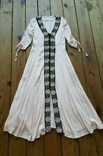 Urban Outfitters EU UK peach gauzy button up embroidered boho gypsy maxi dress