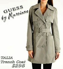 """GUESS By MARCIANO """"TALIA"""" TRENCH COAT / JACKET BELTED BOUBLE BREAST Sz M  $298"""