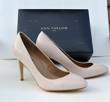 NEW!! NIB Ann Taylor MADIE almond Beige Luxury Pump Shoes Sz 8