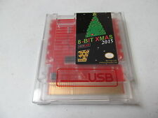 8-BIT XMAS 2015 NES Christmas Nintendo game cartridge blinking lights card new