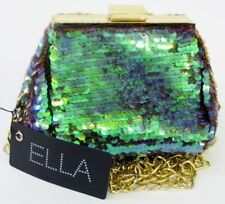 Ella Small Emerald Shoulder Evening Bag with gold clasp and chain 72758