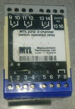 MTL 2212 3 channel relay