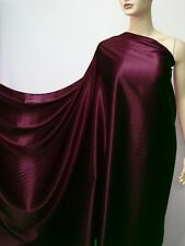 "by The Yard ""Deep Burgundy"" Pure Silk Fabric Satin Charmeuse Plain Crepe Back"