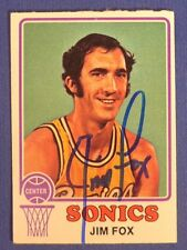 JIM FOX signed 1973-74 Topps Seattle Super Sonics
