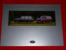 LAND ROVER Range Rover Farbkarte Prospekt von 1992