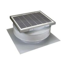 Active Ventilation Exhaust Attic Fan 365 CFM White Solar Powered Roof Mounted