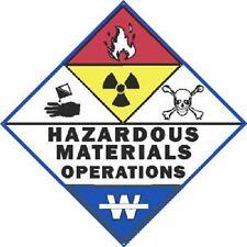 3 Inch Reflective Hazardous Materials Operations Haz-Mat Sticker Decal
