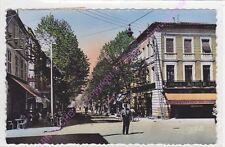 CPSM 81400 CARMAUX Avenue Albert Thomas Tissus André café gendarme Edt APA 1954