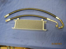 MG PAIR OF MGC  ROADSTER GT RUBBER OIL COOLER HOSES AND THIRTEEN ROW COOLER  A4C