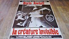 LA CREATURE INVISIBLE ! boris karloff  affiche cinema 1966