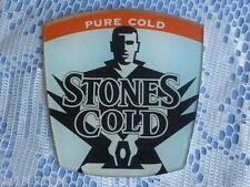 "STONES "" COLD ""  LARGE  FONT BADGE  ( from  BAR BEER FONT )."