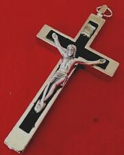 """Crucifix Catholic Cross  Stainless Steel Made In Italy 2.8X1.5"""""""