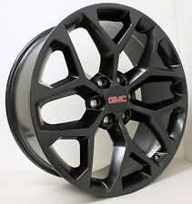 New 22 inch GMC Black Snowflake Wheels Rims GMC Sierra Yukon Denali  Avalanche