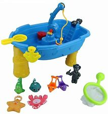 Sand Water Play Table Pirate Boat Fishing Game Childrens Outdoor Sandpit Toy 235
