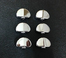 Free shipping 6 pieces Silver Metal buttons fit Grover Guitar machine head--GRM