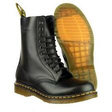 Brand New Ladies Mens Black Dr Doc Martens 1490 10 Eyelet Boots Size uk 4 / 37