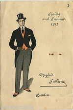 ADVERTISING CARDBOARD, SPRING AND SUMMER 1913, MAYFAIR FASHIONS, LONDON     m
