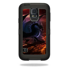 Skin Decal Wrap for OtterBox Defender Samsung Galaxy S5 Case Fire Dragon
