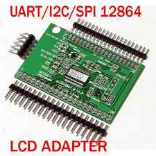 Universal Serial:UART/IIC/I2C/SPI 128x64 LCD Adapter+Arduino Lib+7 Fonts+Graphic