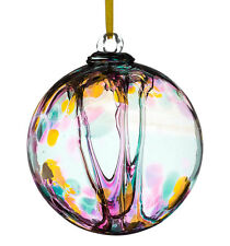Glass Spirit or Friendship Ball, 10cm Multi Coloured Turquoise By Sienna Glass