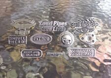 GIANT SALE SPIECAL HOG GOTHIC MOTORCYCLE BIKER CHOPPER 10 PEWTER PINS ALL NEW