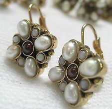 New - Gorgeous Seed Pearl Crystal Earrings - beautiful!