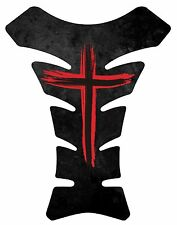 Jesus Christian Cross Red Motorcycle Gel Gas tank pad tankpad protector Decal