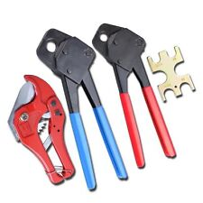 2 Pex Crimpers for 1/2 & 3/4 copper ring pluming pipe crimping Tool, pvc cutter