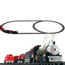 Electric Train Set Kids Educational Toys Battery Operated Railway Car Child Gift