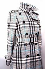 BELLISSIMO BURBERRY LONDON CHECK lana Rich Cappotto / trench UK 10 USA 8