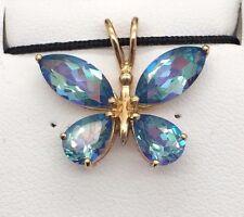 Mystic Topaz Butterfly Pendant (10k)
