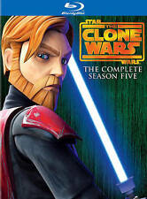 The Clone Wars Season 5 Five Star Wars CGI Animated Television Series on Blu-Ray