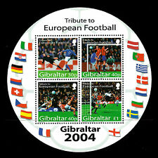 Gibraltar 2004 - Sports Soccer Tribute to European Football Player - Sc 975a MNH