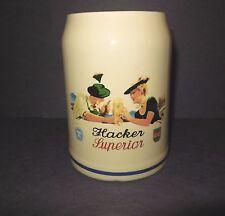 Hacker (Pschorr) Superior Beer Mug Munich Germany Vintage 0.5 liter