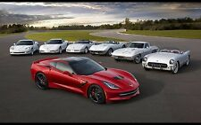 "2014 Chevrolet Corvette Stingray muscle car Mini Poster 13""x19"" HD"