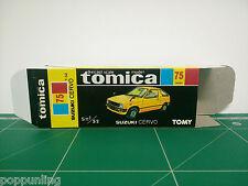 REPRODUCTION BOX for Tomica Black Box No.75 Suzuki Cervo