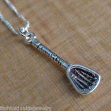 Lacrosse Stick Necklace - 925 Sterling Silver - Lacrosse Stick Charm *NEW Sports