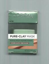 NIB L'OREAL PARIS SKIN CARE PURE CLAY MASK EXFOLIATE AND REFINE PORES, 1.7 OUNCE