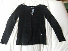 Blue sequin women's jumper- size 12- new with tags