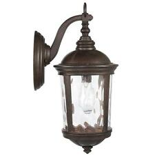 "Large 20"" Outdoor Exterior Wall Porch Patio Bronze Vintage Lantern Sconce Light"