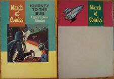 MARCH OF COMICS 219 GIVEAWAY PROMO JOURNEY TO THE SUN SPACE EXPLORER MINI 1961