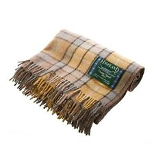 100% Wool Natural Buchanan Tartan Knee Rug/Blanket